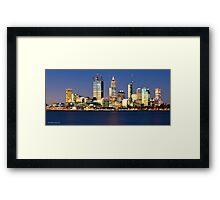 Perth City Skyline Framed Print