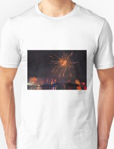 Fireworks in Brisbane Unisex T-Shirt