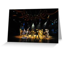 A Scene From The Lion King Show. Disneyland, Hong Kong. Greeting Card