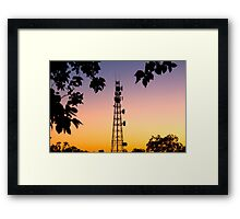 Radio Tower in Queensland Framed Print
