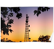 Radio Tower in Queensland Poster