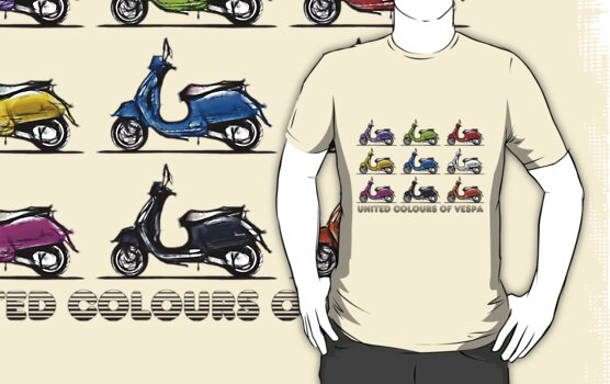 United Colours of Vespa by eyevoodoo