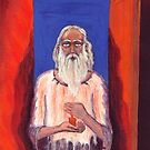 Old Man with Candle oil painting by Vitaliy Gonikman