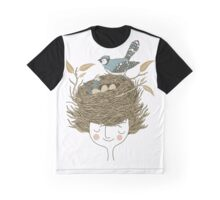 Bird Hair Day Graphic T-Shirt