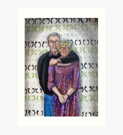 Family Portrait - Mum n Gray' Art Print