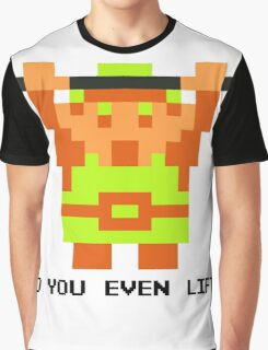 Do You Even Lift? 8-bit Link Edition v2 Graphic T-Shirt