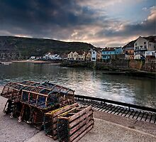 Lobster Pots & Harbour by Mark White