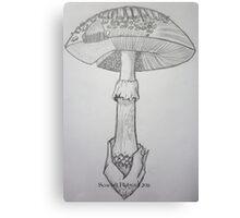 Mushroom Anatomy Canvas Print