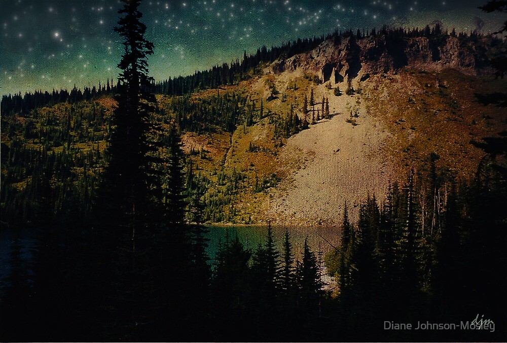 Dusk On The Road To Mt. Rainier by Diane Johnson-Mosley