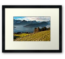 View of Lake Lucerne from Mt Rigi railway Framed Print