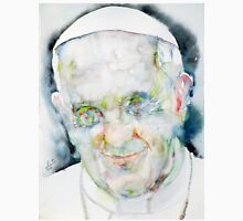 POPE FRANCIS - watercolor portrait.7 Unisex T-Shirt