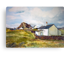 Cottages on Luing Scotland Canvas Print