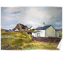 Cottages on Luing Scotland Poster