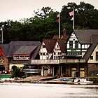 Boat House Row-Phila PA by DAVID  SWIFT