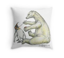 Colour Bear Throw Pillow