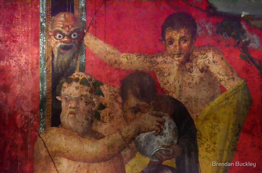 Pompeii Fresco by Brendan Buckley