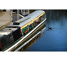 Barge on the river Photographic Print