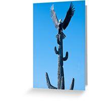 Bald Eagle on Sequoia Cactus Greeting Card