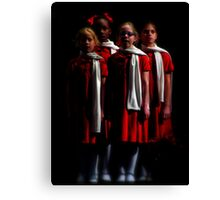 Christmas Choir Canvas Print
