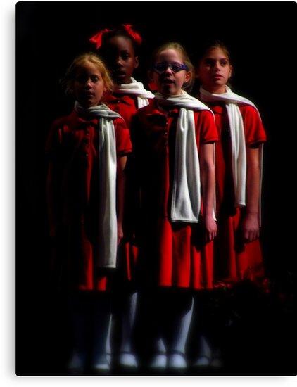 Christmas Choir by artisandelimage