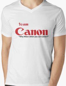 """Team Canon! - """"why nikon when you can CANON?"""" Mens V-Neck T-Shirt"""