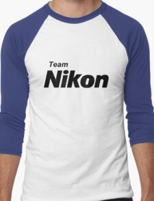 Team Nikon! Men's Baseball ¾ T-Shirt