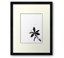 Inverted Flower Framed Print