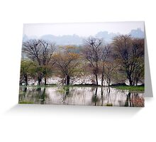 Reflections in Annasagar Lake Greeting Card