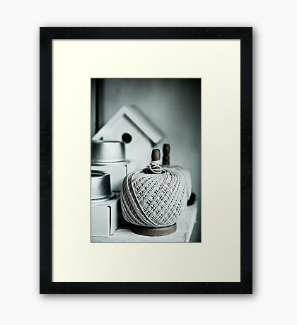String & Things Framed Print