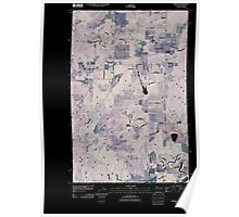 USGS Topo Map Washington State WA Tweedie 20110429 TM Inverted Poster
