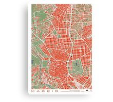 Madrid city map classic Canvas Print