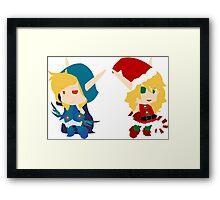 Elven Twins Framed Print