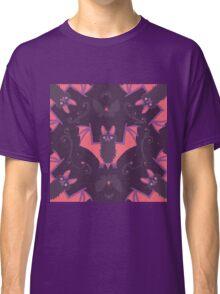 Bats Damask Wallpaper Classic T-Shirt