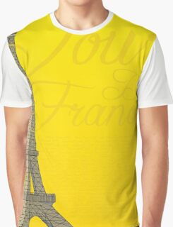 Tour De France Eiffel Tower Graphic T-Shirt