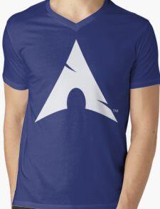 Big-A Arch Linux White Mens V-Neck T-Shirt