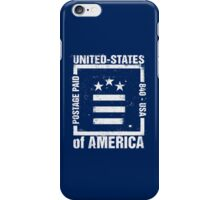 Postage Paid USA iPhone Case/Skin