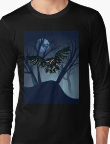 Owl in the Night Forest 5 Long Sleeve T-Shirt