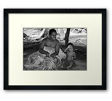 Vanuation Mother and Child Framed Print