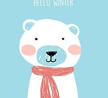 Hello winter- Mr. Bear by KaylaPhan