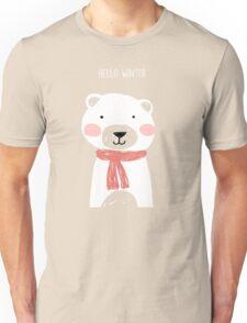 Hello winter- Mr. Bear Unisex T-Shirt