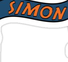 simon w robots Sticker