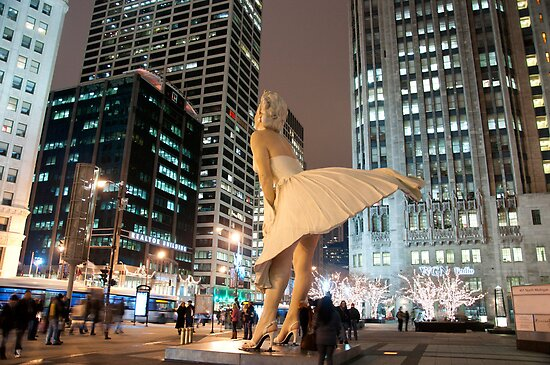 Marilyn in Chicago 2 by Polly Greathouse