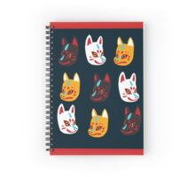 Kitsune Japanese Fox Masks Spiral Notebook
