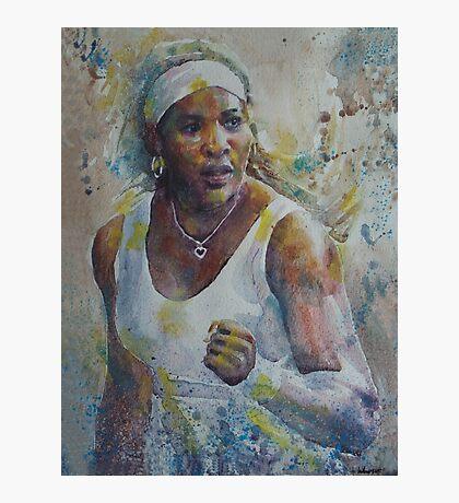 Serena Williams - Portrait 5 Photographic Print