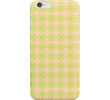 Floral pattern in beige and yellow colors iPhone Case/Skin
