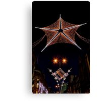 Christmas lights in London  Canvas Print