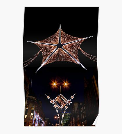 Christmas lights in London  Poster