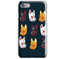Kitsune Japanese Fox Masks iPhone Case/Skin