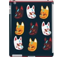 Kitsune Japanese Fox Masks iPad Case/Skin