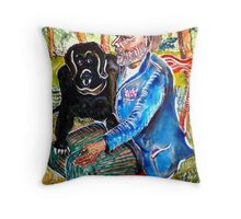 Homeless Fernand and Company Throw Pillow